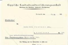 Brief von 1933 der Lippischen
